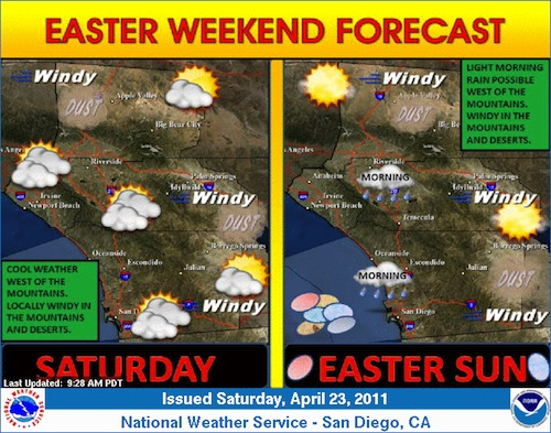 Saturday and Sunday Forecast