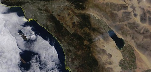 Smoke plume of Eagle Fire