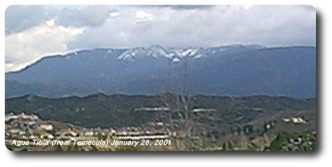 Snow on Agua Tibia
