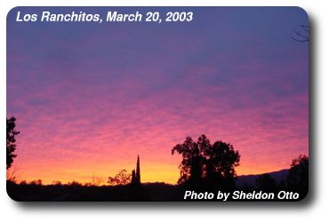 Sunrise over Temecula Ranchos