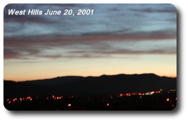 Twilight over the West Hills