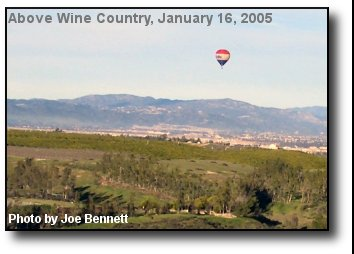 Balloon over Wine Country
